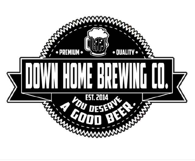 down home logo black
